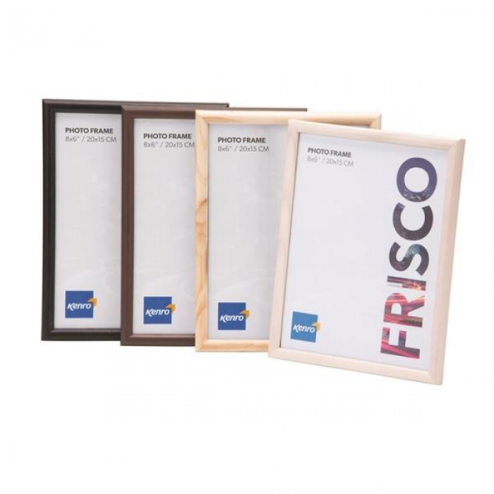 Kenro A4 Frisco Wood Black Frame