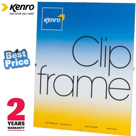 Kenro A4 Glass Fronted Clip Frame