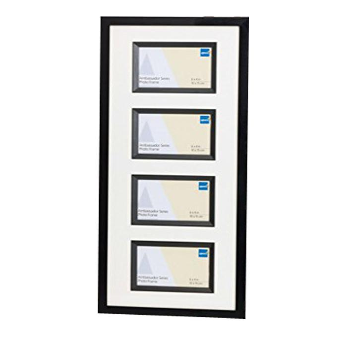 Kenro Ambassador Four 6x4-Inch Long Black Frame