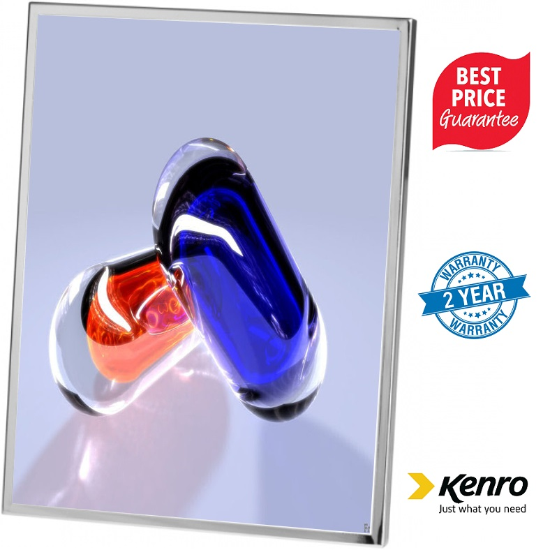 Kenro 7x5 Inch Avenue Series Silver Plated Frame