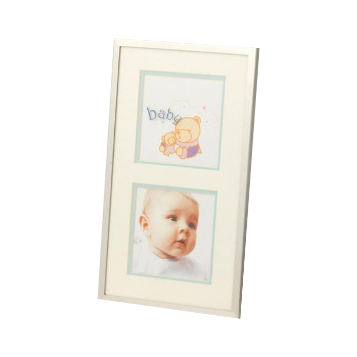 Kenro Baby Boy Frame For 2 Photos 3.25x3.25-Inch - Blue