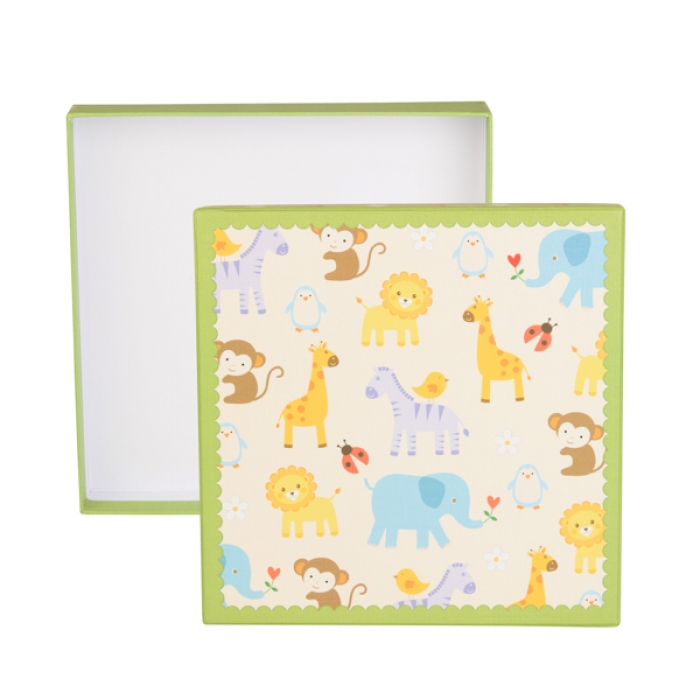 Kenro Baby Zoo Album and Keepsake Box - Green