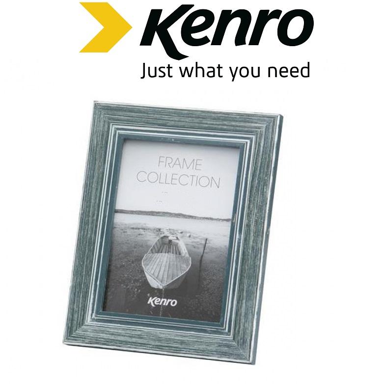 Kenro 8x12-Inch Emilia Distressed Blue Frame