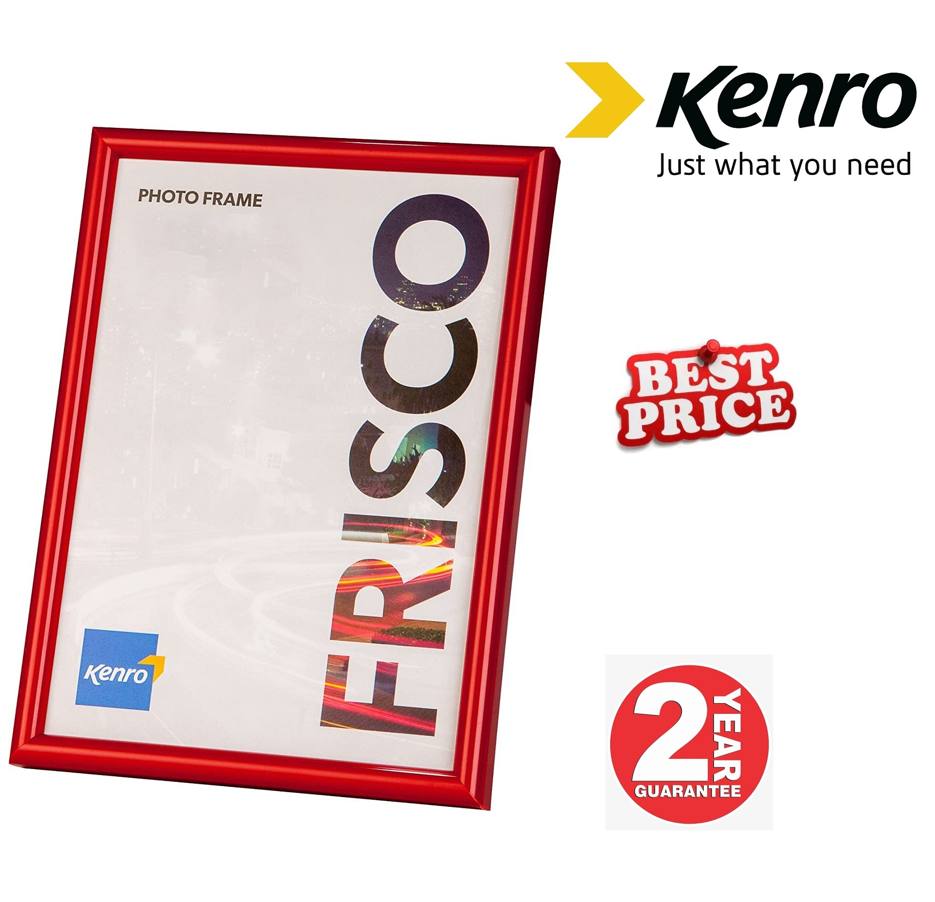 Kenro Frisco 6x4-Inch Red Frame