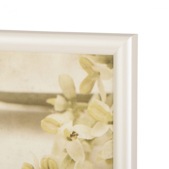 Kenro Fusion Modern Pearlised 6x4-Inch Photo Frames White