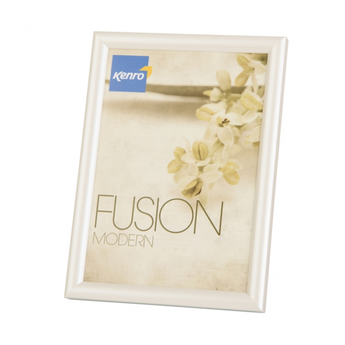 Kenro Fusion Modern Pearlised 8x6 Inch Photo Frames White