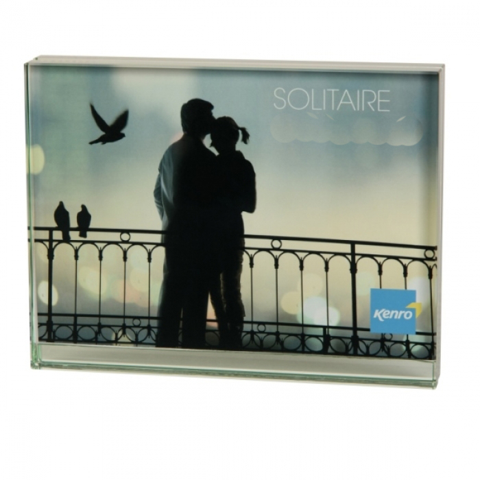 Kenro glass block frame 8x6 inch 15x20cm landscape format for Glass block window frame