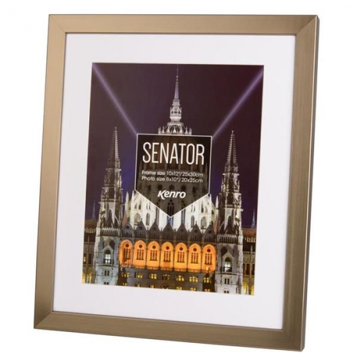 Kenro Senator 30x40-cm With 12x10-Inch Mat Photo Steel Grey Frame