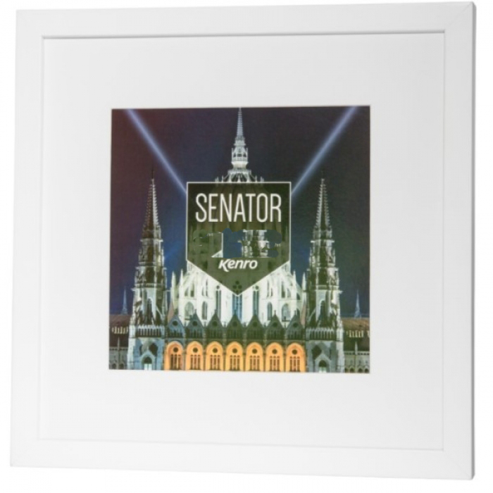 Kenro Senator White Square 12x12-Inch Frame With mat 8x8-Inch