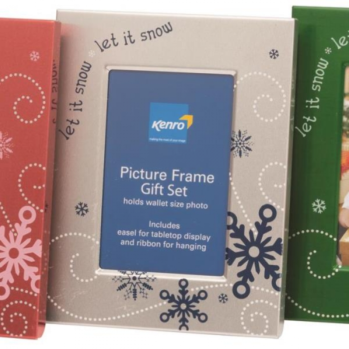 Kenro Set Of 3 Christmas Themed Photo Frames