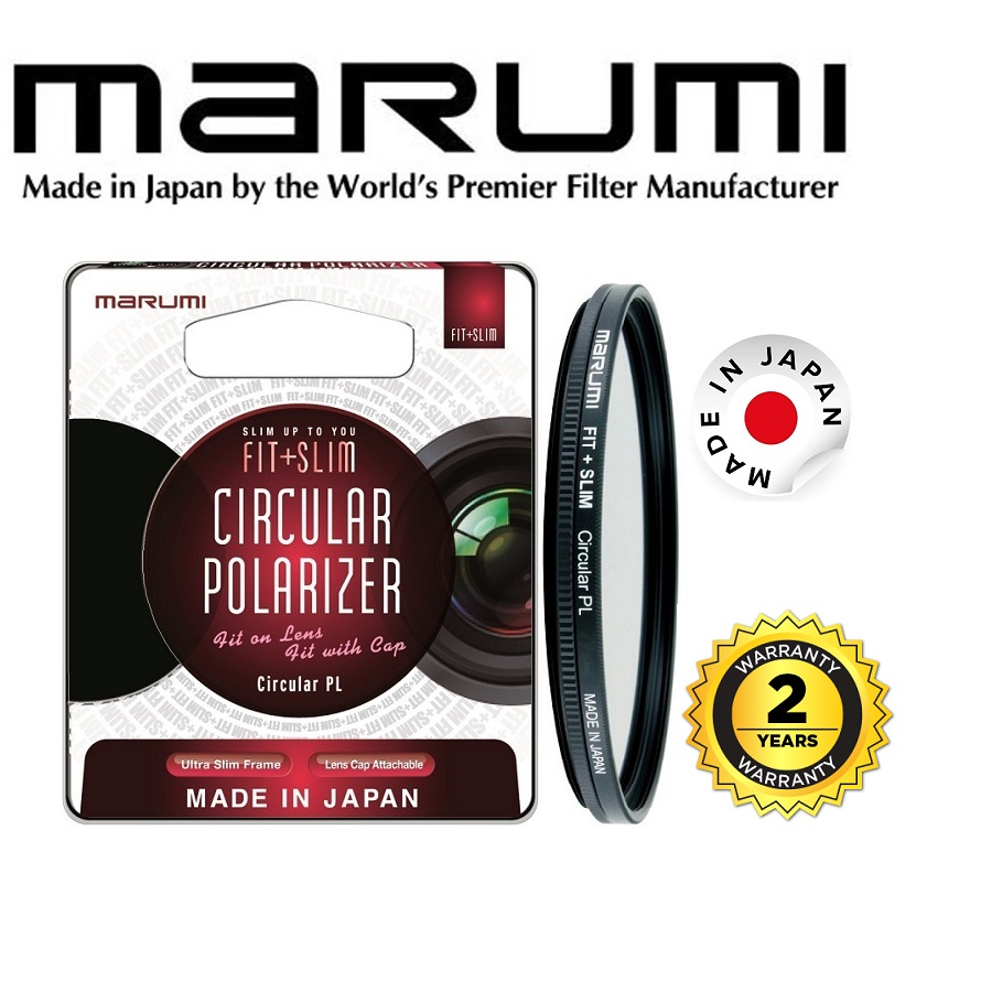 Marumi 55mm Fit Plus Slim Circular Polarizer Filter