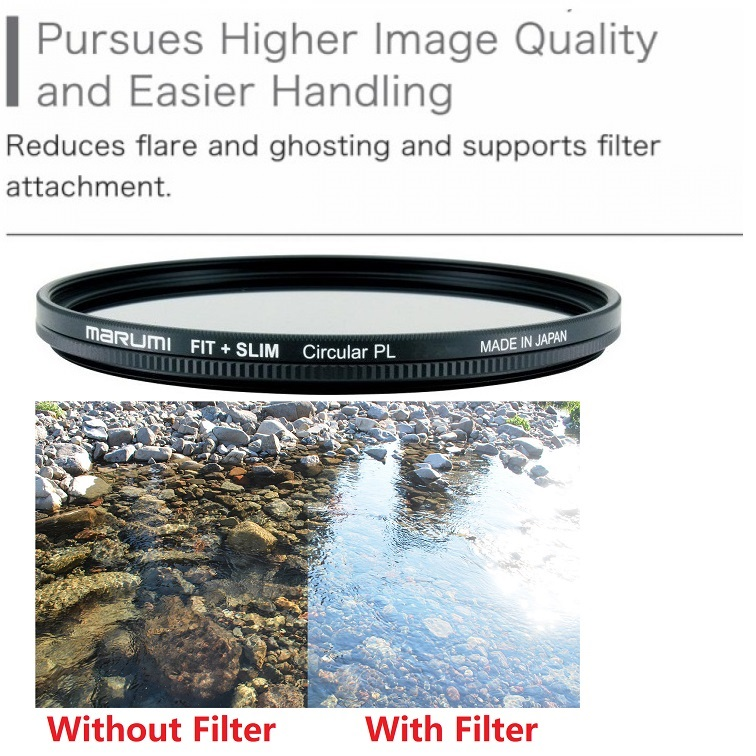 Marumi 67mm Fit Plus Slim Circular Polarizer Filter