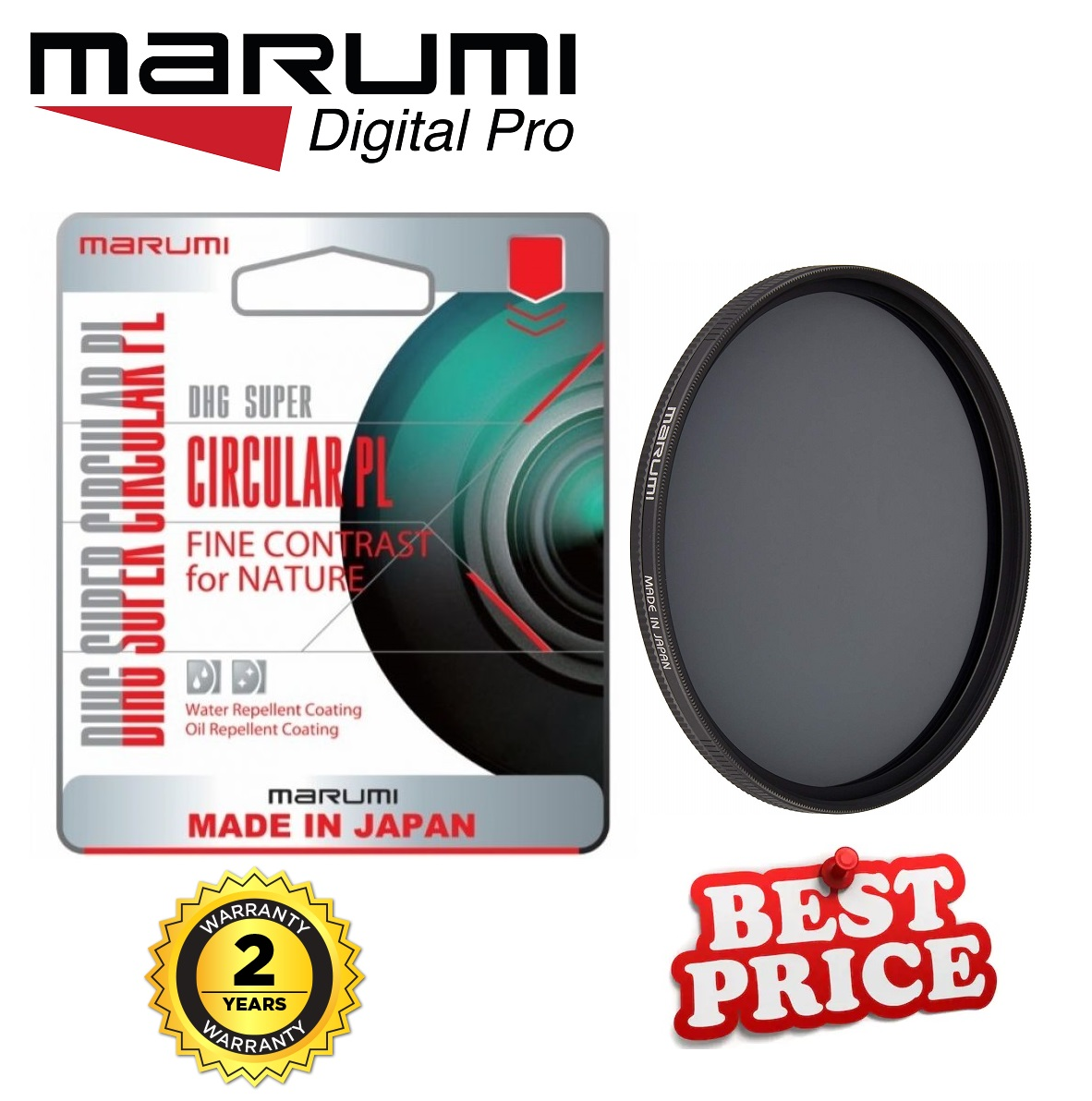 Marumi DHG Super 72MM Circular-Polarizing Filter