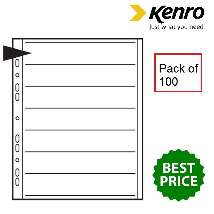 Kenro Negative File Pages 35mm Acetate - Pack of 100