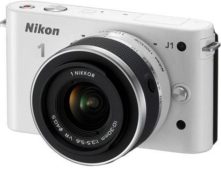 Nikon 1 J1 White Digital Camera with 10-30mm Lens
