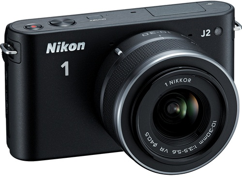 Nikon 1 Digital Camera J2 With 10-30mm VR Zoom Lens Black