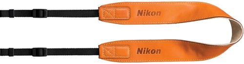 Nikon AN-SPL002 Leather Camera Neck Strap Brown