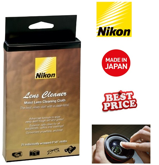 Nikon Moist Cloth Lens Cleaners