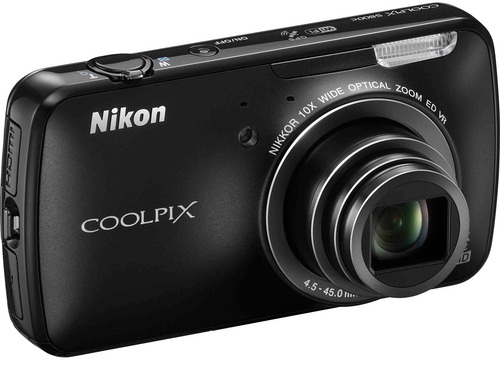 Nikon 16 Megapixel COOLPIX S800c Digital Camera Black