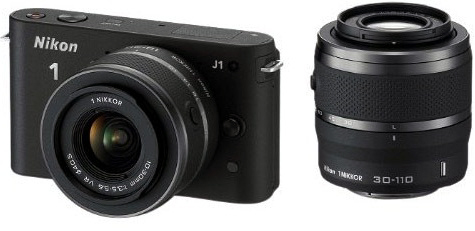 Nikon 1 J1 Black Digital Camera with 10-30mm and 30-110mm Lenses