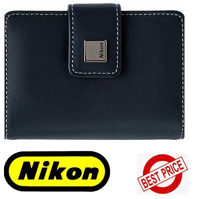 Nikon Deluxe Gray Leather Carrying Case for Coolpix S Series