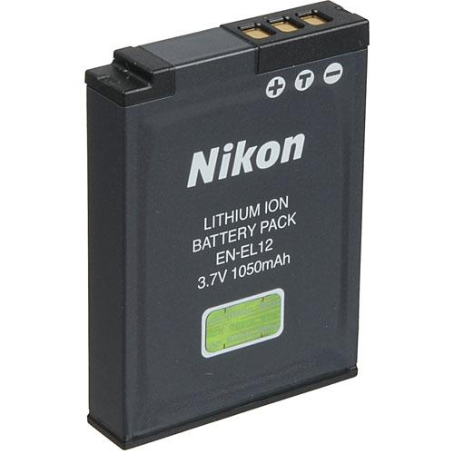 Nikon EN-EL12 Lithium-Ion Battery (3.7V, 1050mAh)