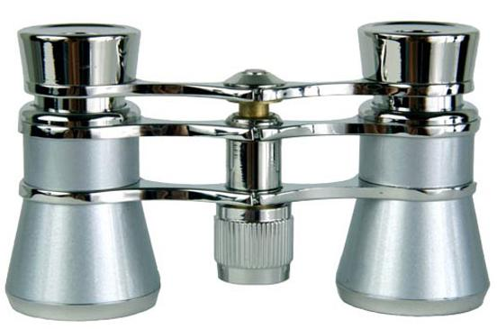 Opera Glasses 3x25 Rigoletto Binoculars Platinum White