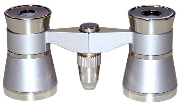 Opera Glasses 3x25 LaScala Optics Othello Binocular Platinum Silver