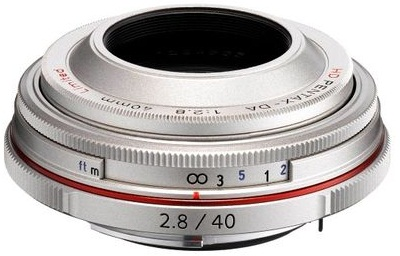 Pentax DA 40mm f/2.8 High Definition Limited Lens (Silver)