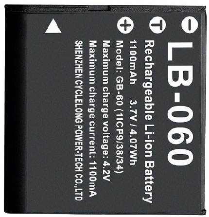 Pentax LB-060 Rechargeable Lithium-Ion Battery