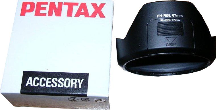 Pentax PH-RBL 67mm Lens Hood For DA 16-45mm f/4.0 Lens
