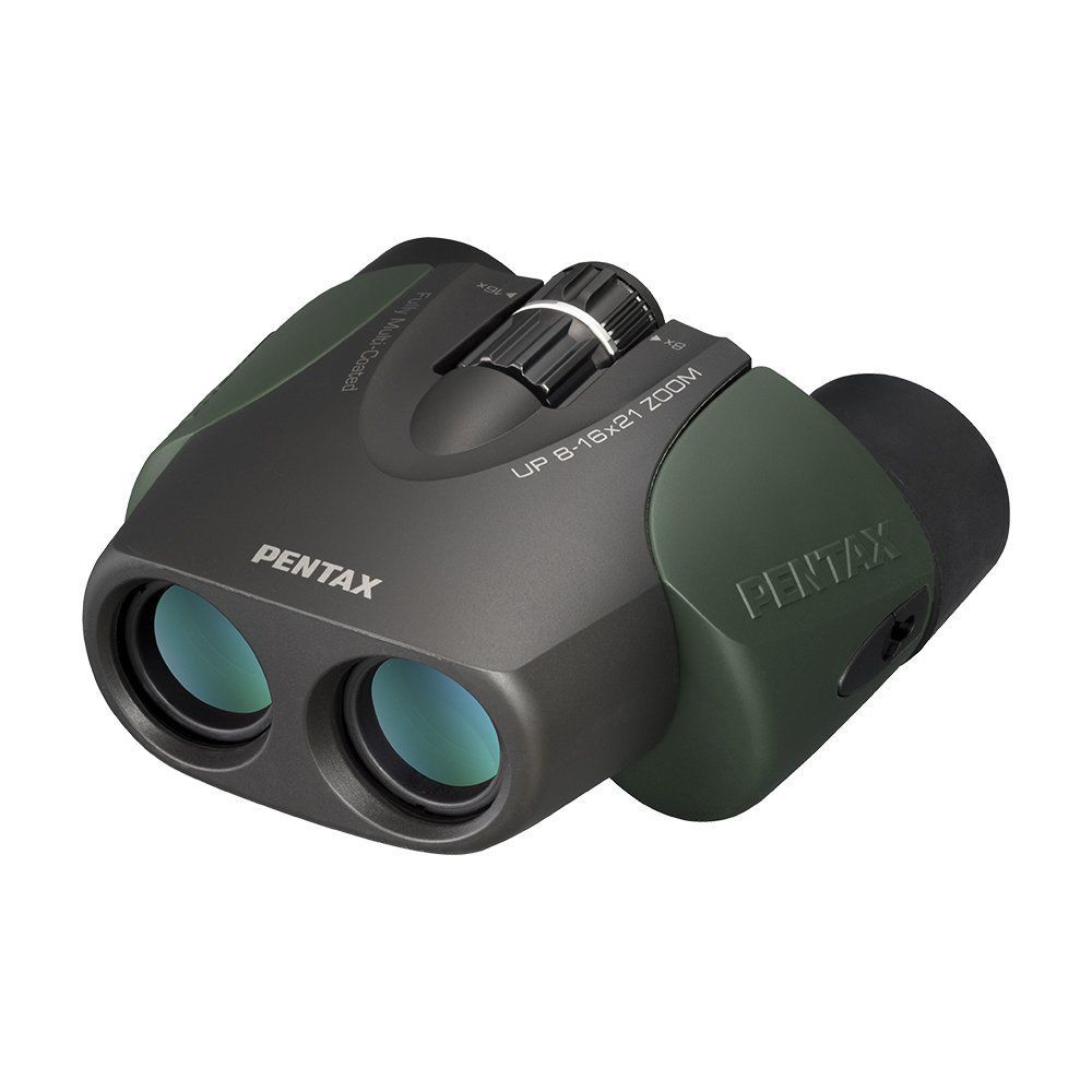 Pentax Up 8-16x21 Porro Prism Zoom Binoculars Green