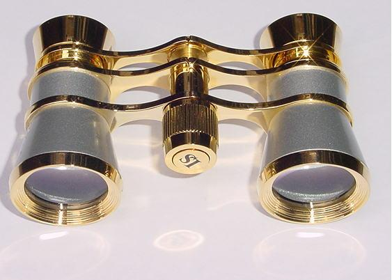 Platinum Gold Opera Glasses 3x25 Aida LaScala Optics