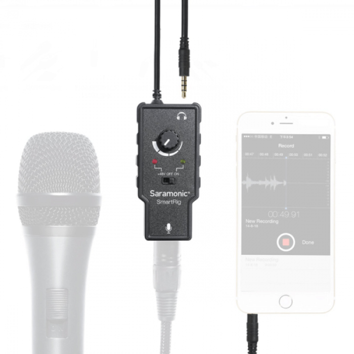 Saramonic SmartRig Microphone Preamp for iOS or Android