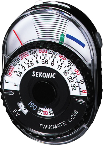 Sekonic L-208 Twin Mate Analog Incident and Reflected Light Meter
