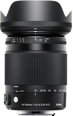 Sigma 18-300mm F3.5-6.3 DC Macro OS HSM Contemporary Lens Nikon Fit