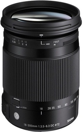 Sigma 18-300mm F3.5-6.3 DC Macro HSM Contemporary Lens Pentax Fit