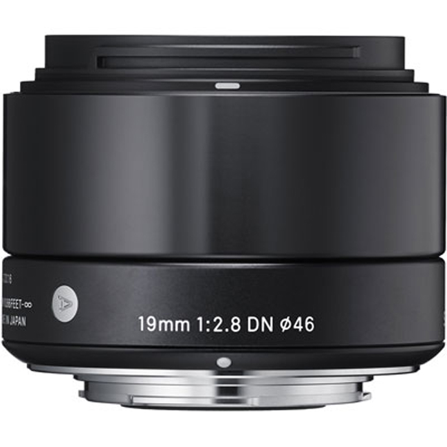 Sigma 19mm F/2.8 DN Lens For Sony Cameras - Black