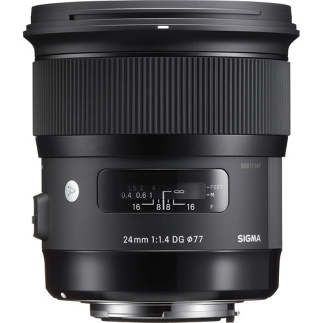 Sigma 24mm F/1.4 DG HSM Art Lens For Nikon