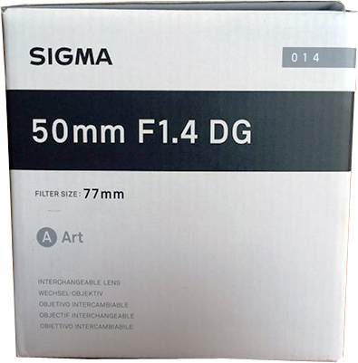 Sigma 50mm F1.4 DG HSM Art Lens For Nikon F Mount Cameras
