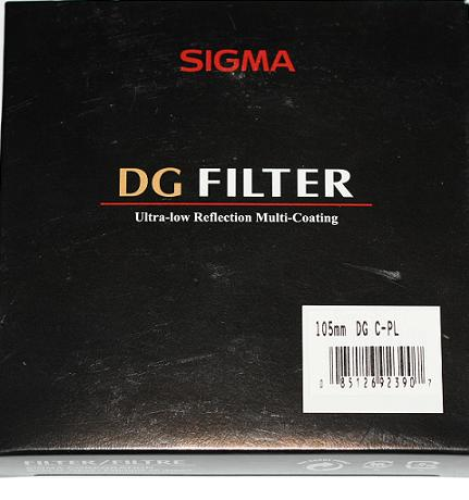Sigma 105MM Multi Coated/DG-EX Circular-Polarising MC Glass Filter