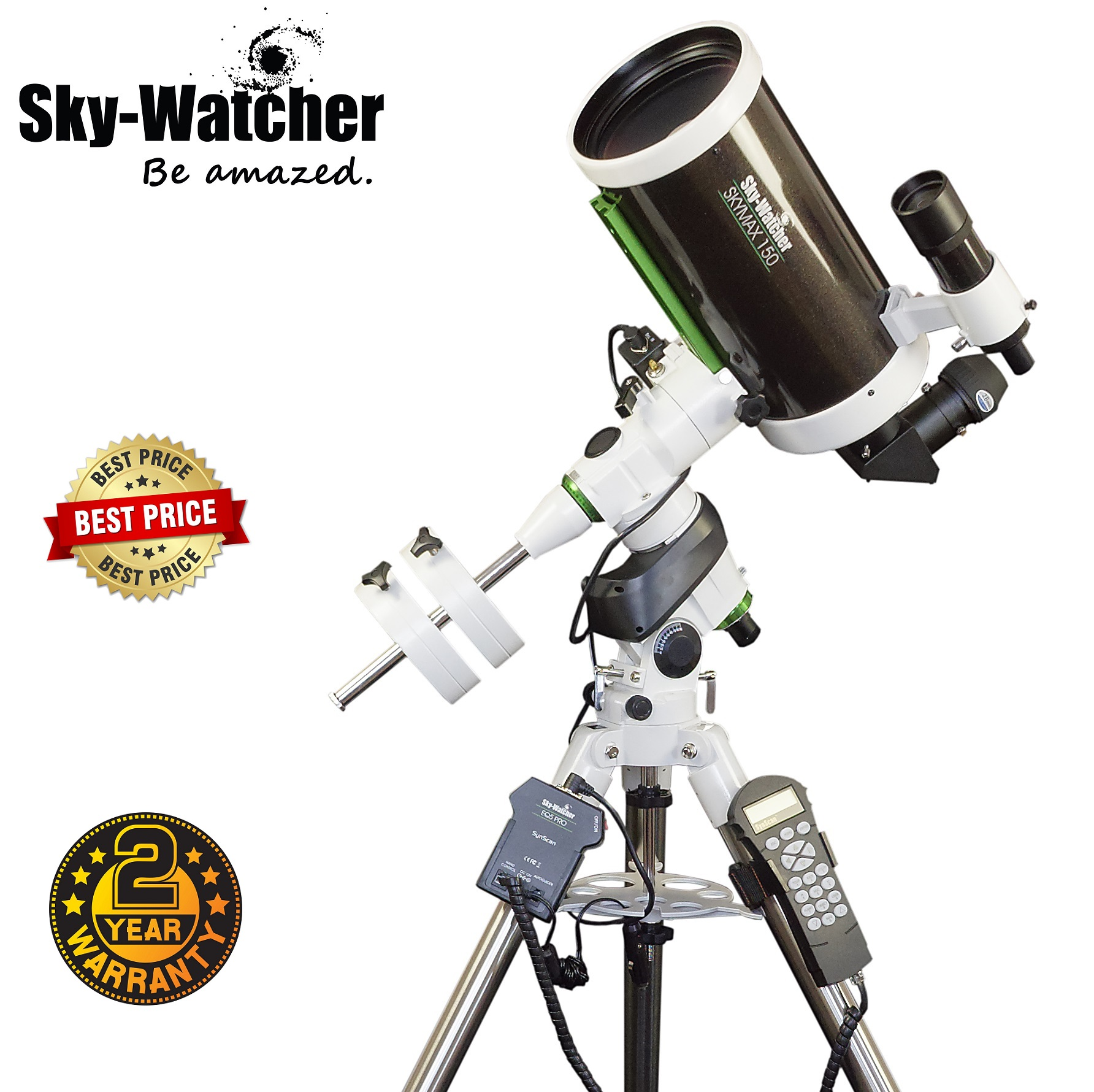 Skywatcher Skymax-150 Pro SynScan EQ5 Computerized Telescope
