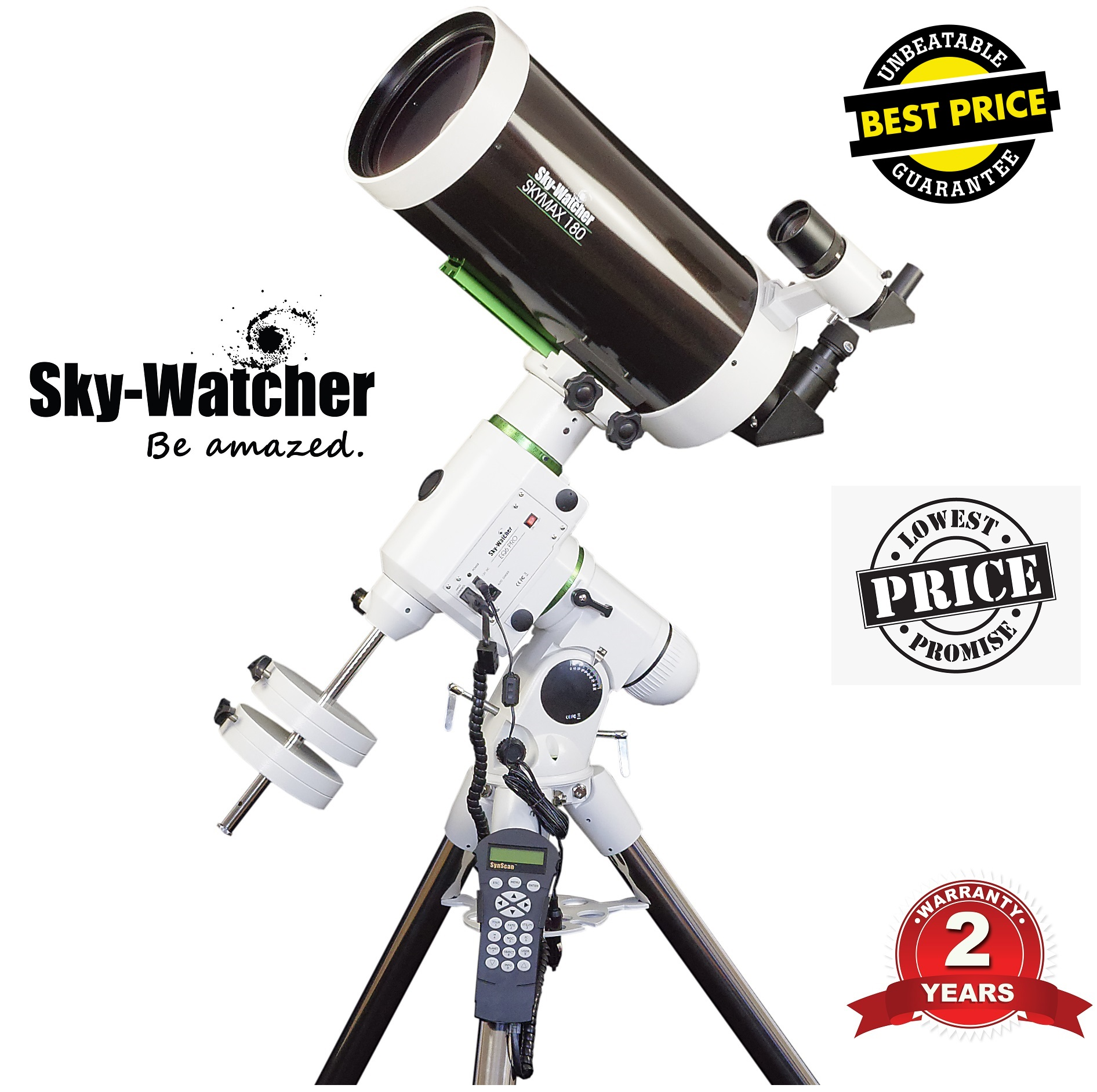 Skywatcher Skymax-180 PRO EQ6 SynScan Computerized Telescope