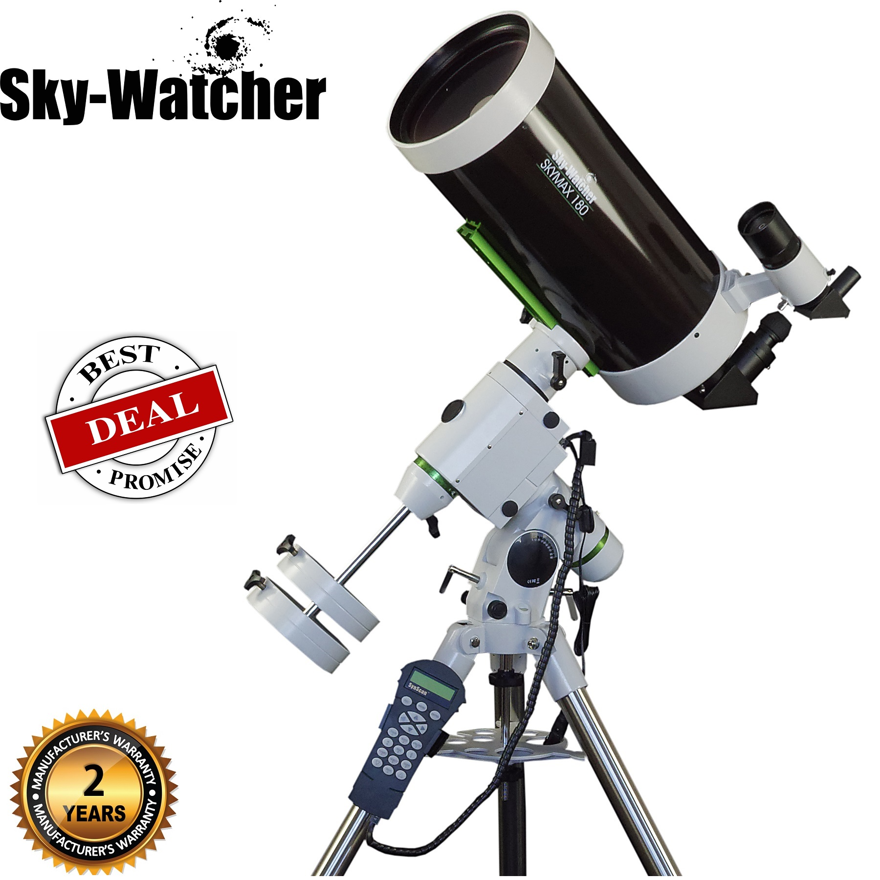 Skywatcher Skymax-180 HEQ5 PRO SynScan Computerized Telescope