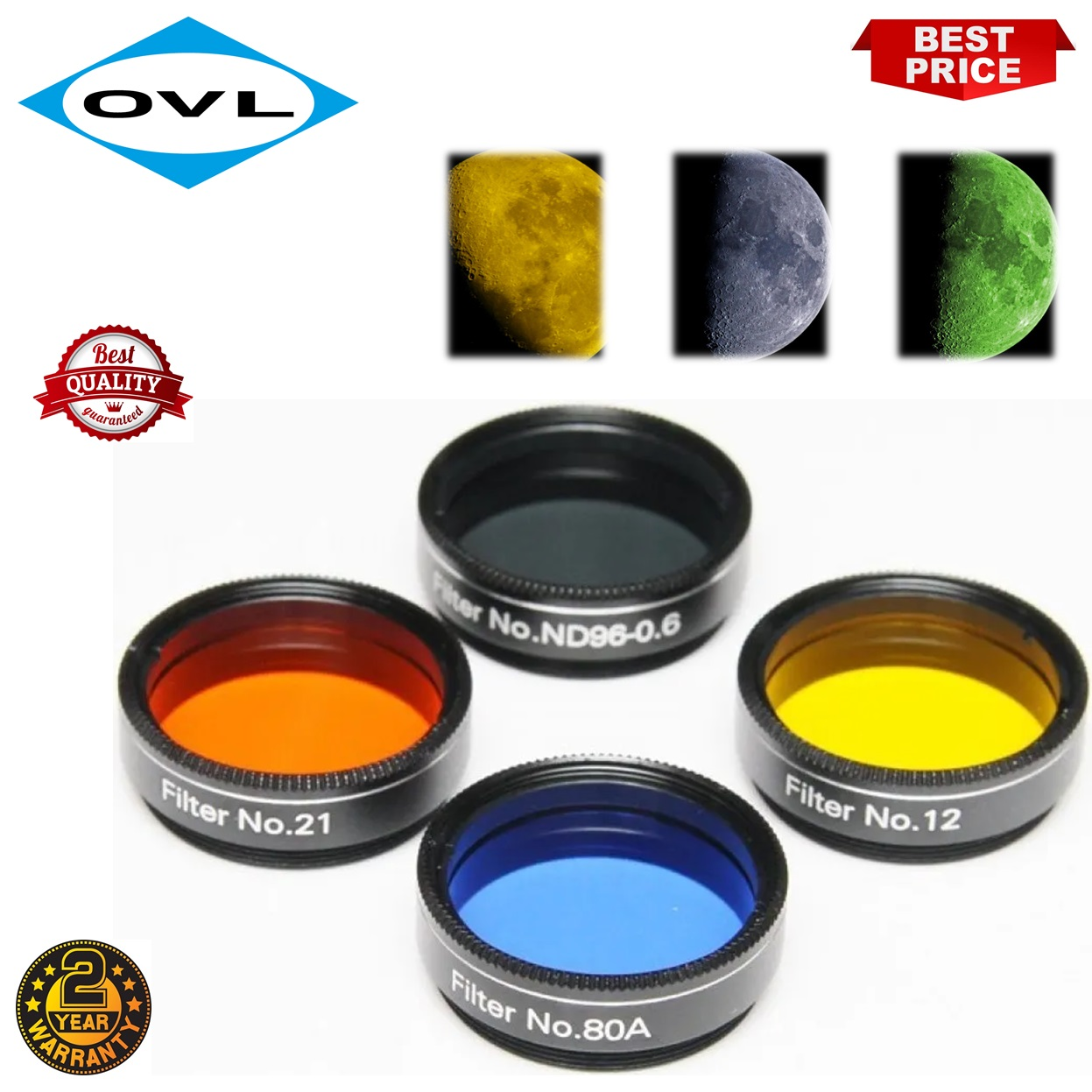 Skywatcher 1.25 Inch Lunar/Planetary Telescope Filter Set