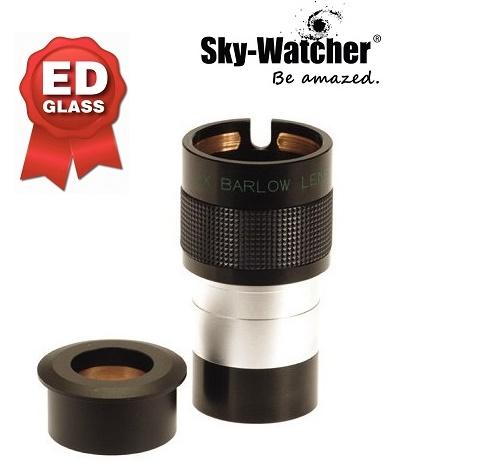 SkyWatcher 2x 2 Inch ED Deluxe Barlow Lens With 1.25 Inch Adaptor