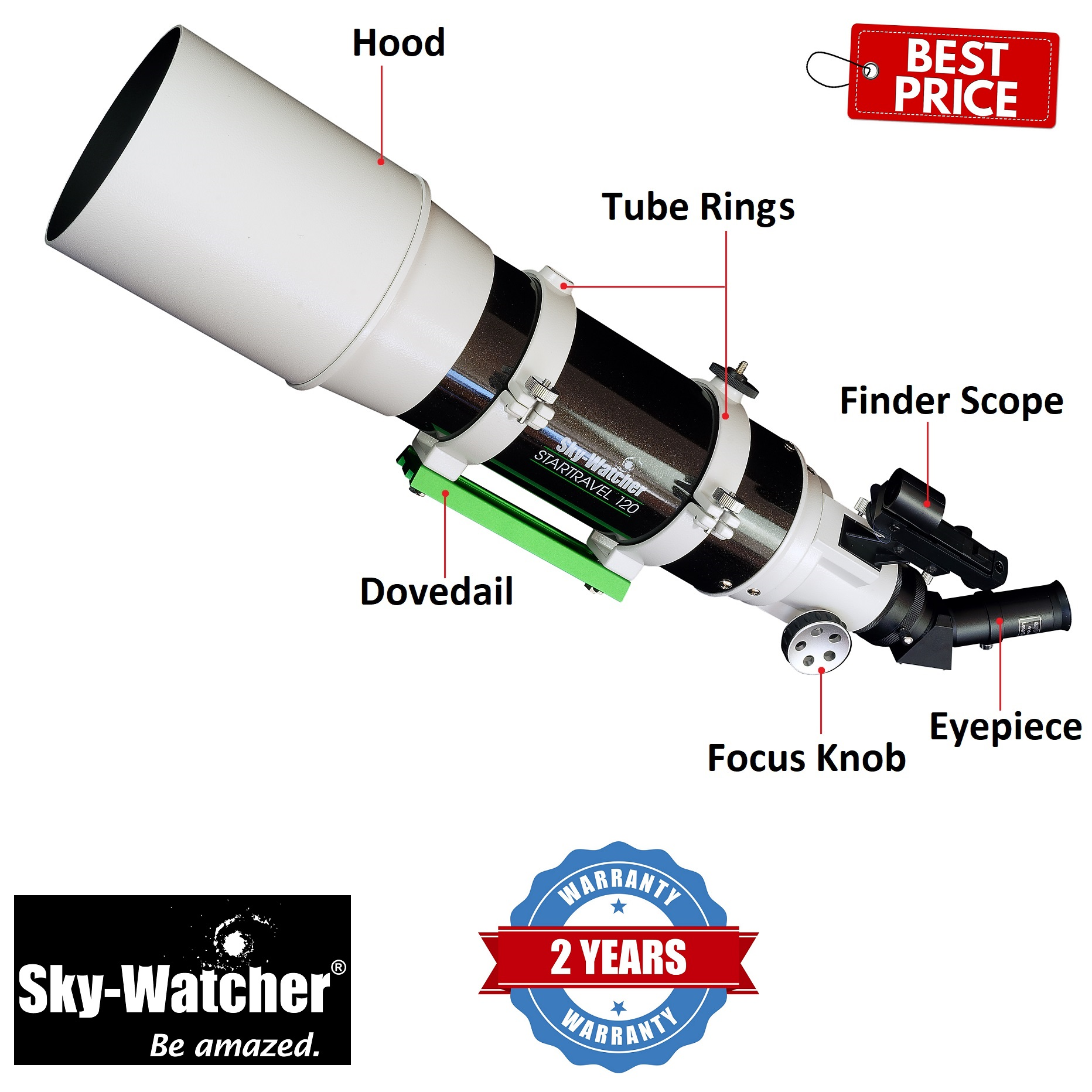 Skywatcher Startravel-120T 120mm F/600 Refractor Telescope OTA
