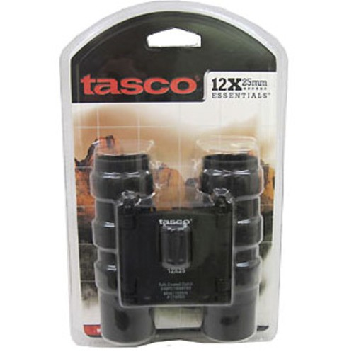 Tasco 12x25 Essentials Roof Prism Binoculars Black