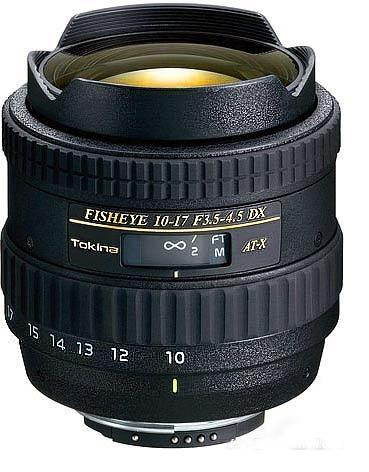 Tokina 10-17mm F3.5-4.5 ATX AF DX Fisheye lens for Nikon