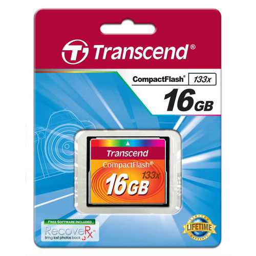 Transcend 133X 16GB CF Compact Flash Memory Card